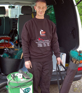 Graham Pugh, owner of 1st Chimney Sweep